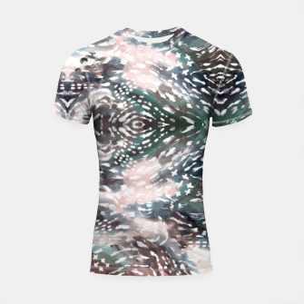 Thumbnail image of Modern abstract 57c Shortsleeve rashguard, Live Heroes