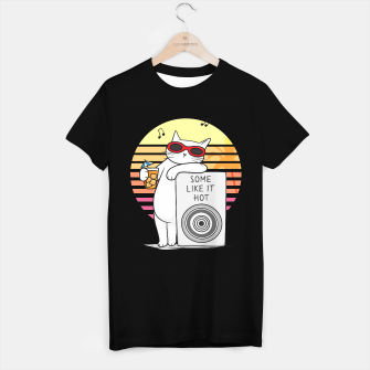 Imagen en miniatura de White cat revelation – some like it hot T-shirt regular, Live Heroes