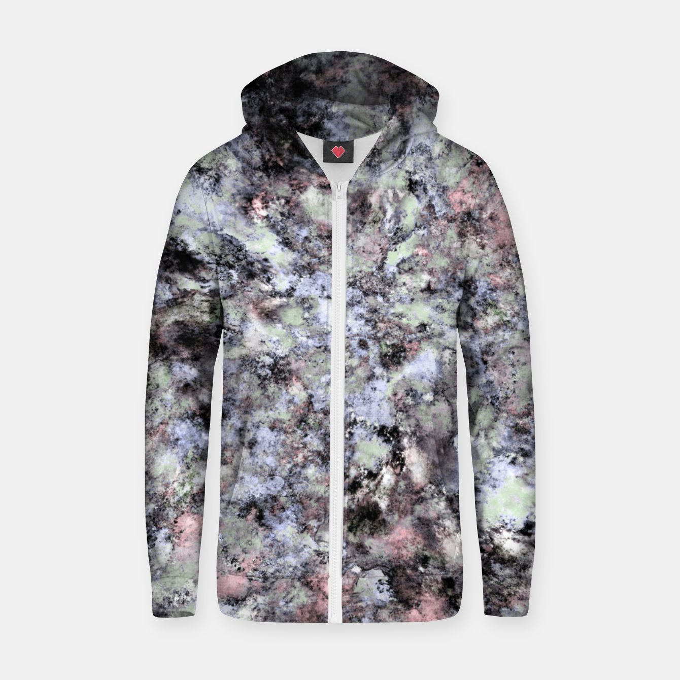 Image of From a safe distance Zip up hoodie - Live Heroes