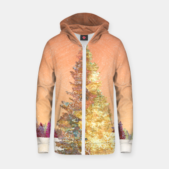 Thumbnail image of One christmas tree Zip up hoodie, Live Heroes