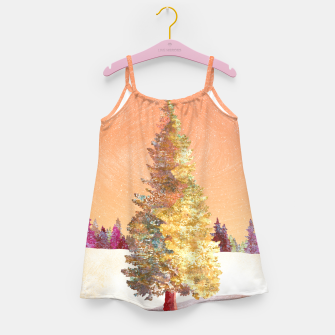 Thumbnail image of One christmas tree Girl's dress, Live Heroes