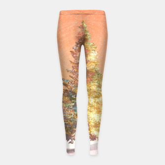 Thumbnail image of One christmas tree Girl's leggings, Live Heroes