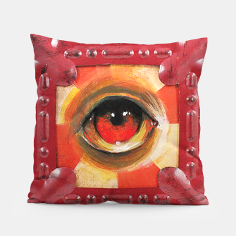 Thumbnail image of Pop Surreal Eye Study Throw Pillow, Live Heroes