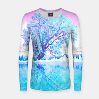 Thumbnail image of One white tree Women sweater, Live Heroes