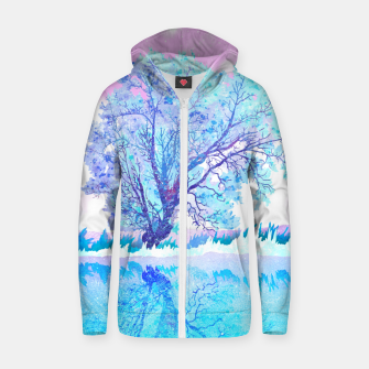 Thumbnail image of One white tree Zip up hoodie, Live Heroes