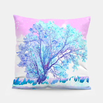 Thumbnail image of One white tree Pillow, Live Heroes
