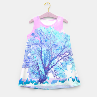 Thumbnail image of One white tree Girl's summer dress, Live Heroes