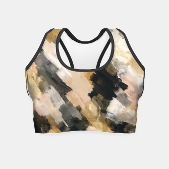 Miniatur Brush strokes at sunset Crop Top, Live Heroes