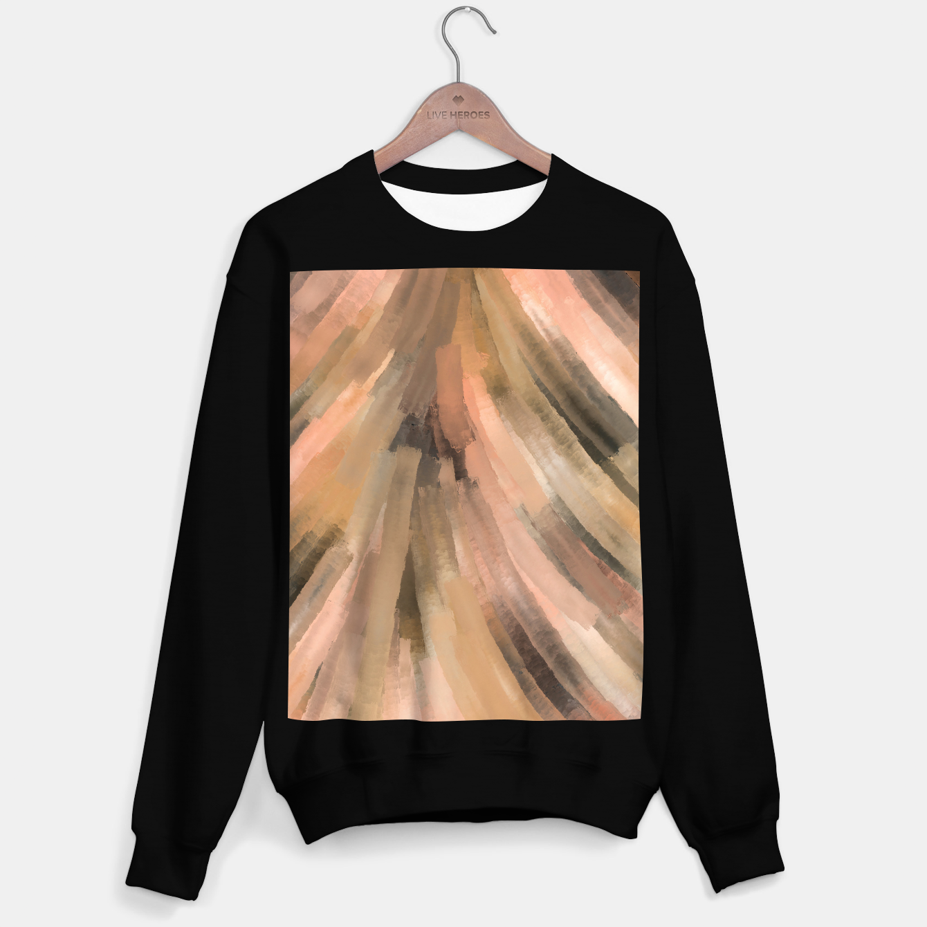 Image of Warm brush strokes 77 Sudadera regular - Live Heroes