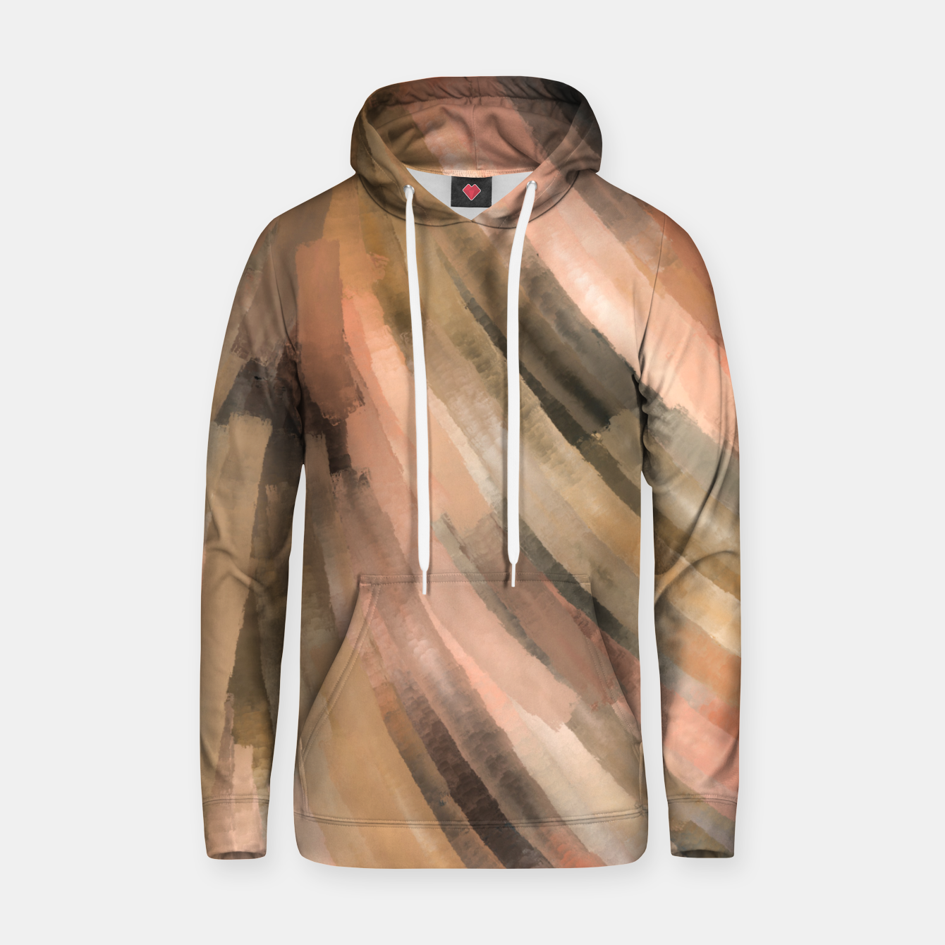 Image of Warm brush strokes 77 Sudadera con capucha - Live Heroes