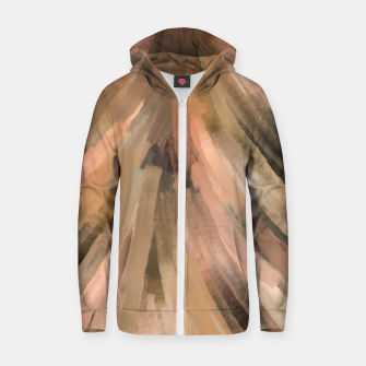 Thumbnail image of Warm brush strokes 77 Sudadera con capucha y cremallera , Live Heroes