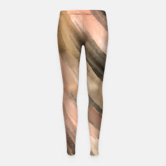 Thumbnail image of Warm brush strokes 77 Leggings para niña, Live Heroes