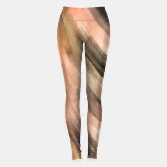 Warm brush strokes 77 Leggings thumbnail image