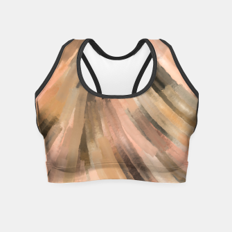Thumbnail image of Warm brush strokes 77 Crop Top, Live Heroes