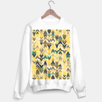 Thumbnail image of Firs, geometric mosaic of trees in soft autumn colors Sweater regular, Live Heroes