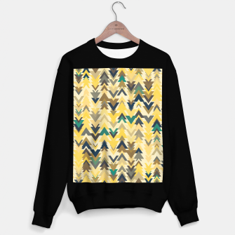 Miniature de image de Firs, geometric mosaic of trees in soft autumn colors Sweater regular, Live Heroes