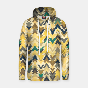 Thumbnail image of Firs, geometric mosaic of trees in soft autumn colors Hoodie, Live Heroes