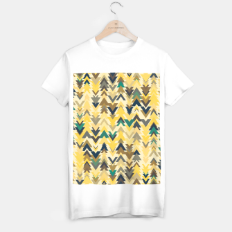 Miniature de image de Firs, geometric mosaic of trees in soft autumn colors T-shirt regular, Live Heroes