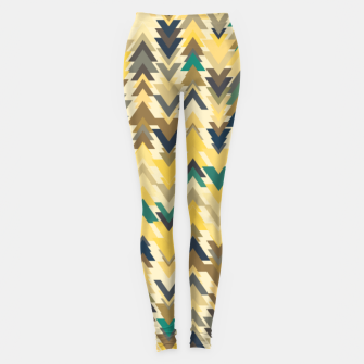 Miniature de image de Firs, geometric mosaic of trees in soft autumn colors Leggings, Live Heroes