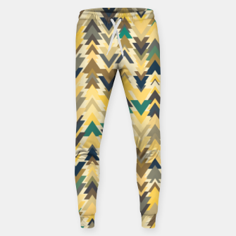Thumbnail image of Firs, geometric mosaic of trees in soft autumn colors Sweatpants, Live Heroes