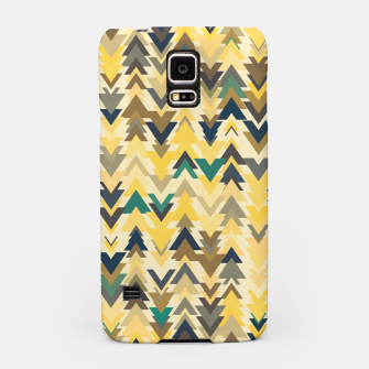 Miniature de image de Firs, geometric mosaic of trees in soft autumn colors Samsung Case, Live Heroes