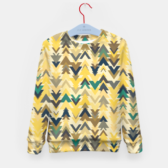 Miniature de image de Firs, geometric mosaic of trees in soft autumn colors Kid's sweater, Live Heroes