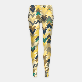 Thumbnail image of Firs, geometric mosaic of trees in soft autumn colors Girl's leggings, Live Heroes