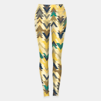Thumbnail image of Firs, geometric mosaic of trees in soft autumn colors Leggings, Live Heroes
