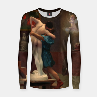 Thumbnail image of Pygmalion and Galatea by Jean-Léon Gérôme Classical Art Reproduction Women sweater, Live Heroes
