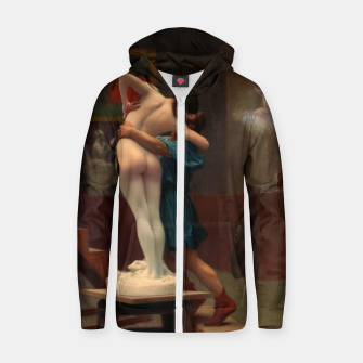 Thumbnail image of Pygmalion and Galatea by Jean-Léon Gérôme Classical Art Reproduction Zip up hoodie, Live Heroes