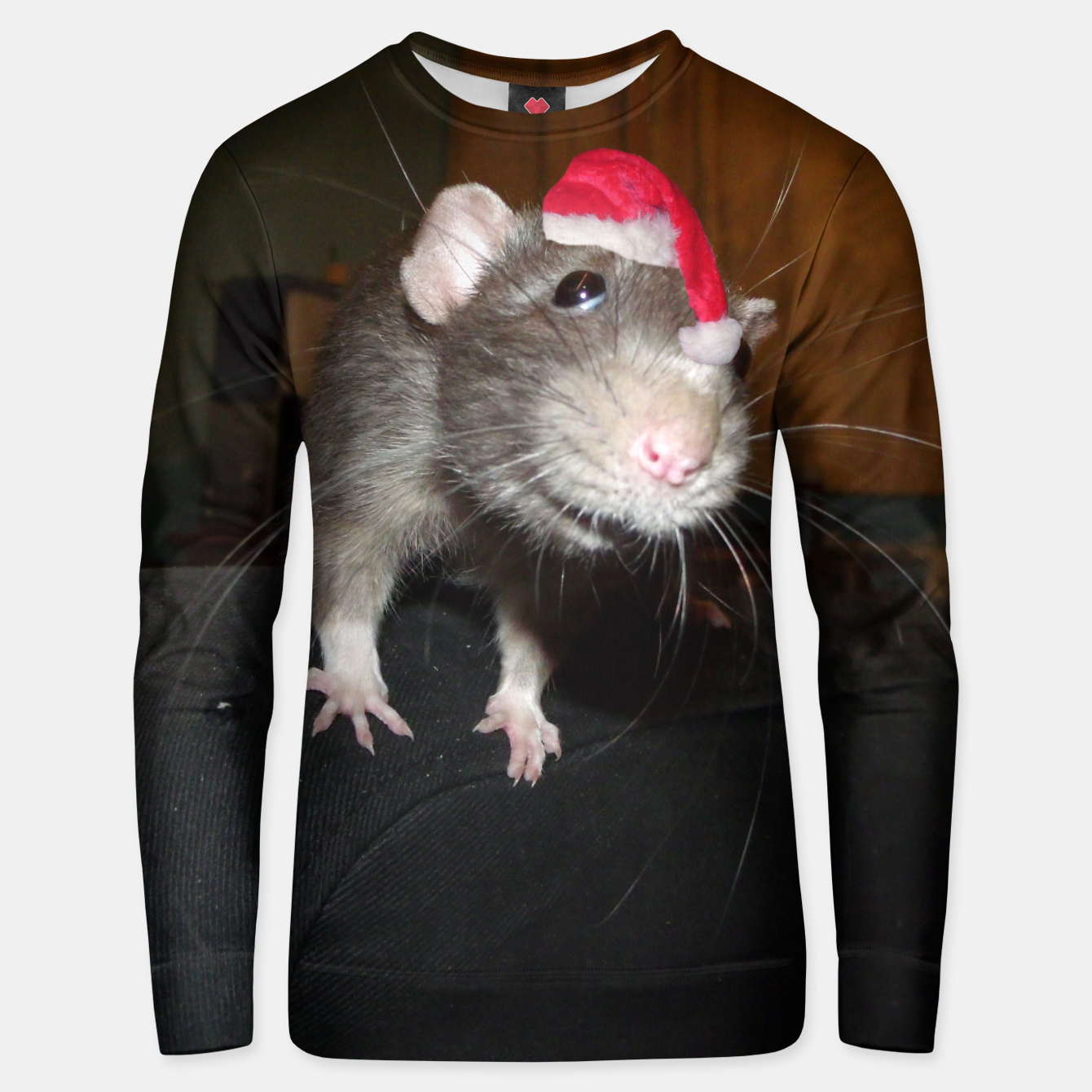 Image of Laughing Christmas Rat sweater - Live Heroes