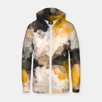 Thumbnail image of Warm brush strokes 30 Sudadera con capucha y cremallera , Live Heroes