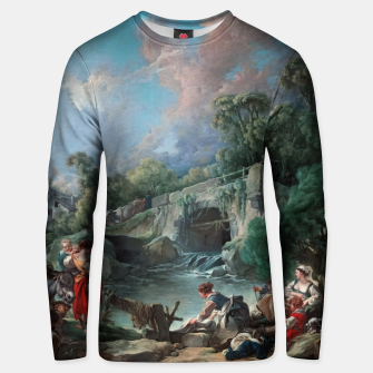 Thumbnail image of Washerwomen by François Boucher Classical Art Reproduction Unisex sweater, Live Heroes