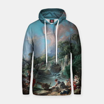 Thumbnail image of Washerwomen by François Boucher Classical Art Reproduction Hoodie, Live Heroes