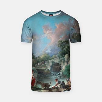 Thumbnail image of Washerwomen by François Boucher Classical Art Reproduction T-shirt, Live Heroes
