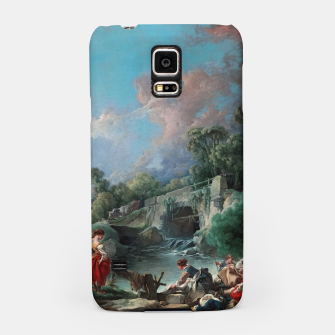 Thumbnail image of Washerwomen by François Boucher Classical Art Reproduction Samsung Case, Live Heroes