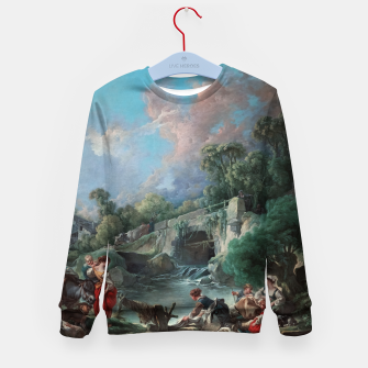 Thumbnail image of Washerwomen by François Boucher Classical Art Reproduction Kid's sweater, Live Heroes