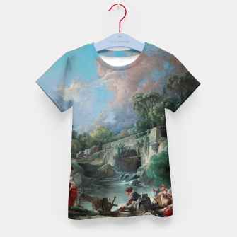 Thumbnail image of Washerwomen by François Boucher Classical Art Reproduction Kid's t-shirt, Live Heroes