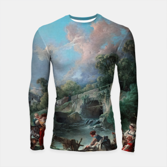 Thumbnail image of Washerwomen by François Boucher Classical Art Reproduction Longsleeve rashguard , Live Heroes