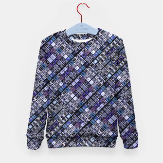 Thumbnail image of Modern Geometric Print Pattern Kid's sweater, Live Heroes