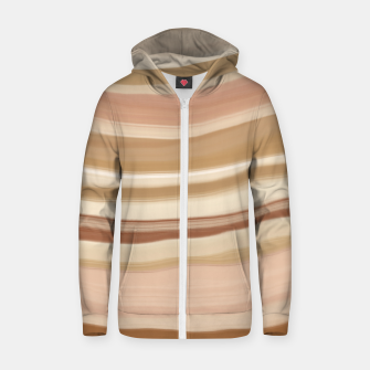 Thumbnail image of Striped desert dunes 5 Sudadera con capucha y cremallera , Live Heroes