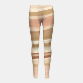 Thumbnail image of Striped desert dunes 5 Leggings para niña, Live Heroes