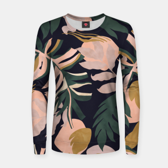Thumbnail image of Abstract nature tropical 34 Sudadera para mujeres, Live Heroes