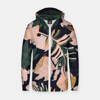 Miniatur Abstract nature tropical 34 Sudadera con capucha y cremallera , Live Heroes