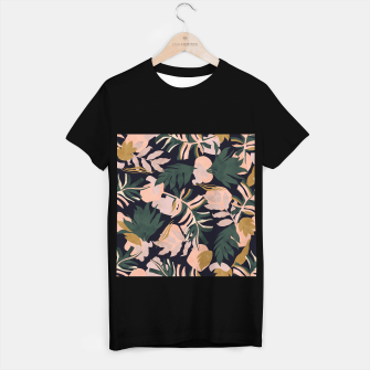 Miniatur Abstract nature tropical 34 Camiseta Regular, Live Heroes