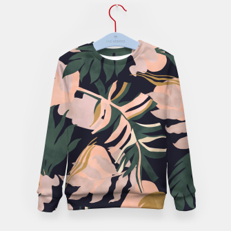 Miniatur Abstract nature tropical 34 Sudadera para niños, Live Heroes