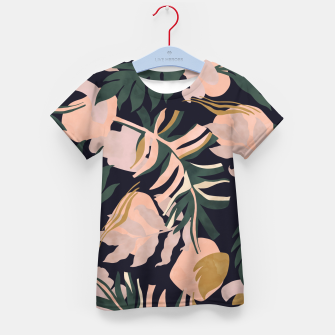 Miniatur Abstract nature tropical 34 Camiseta para niños, Live Heroes