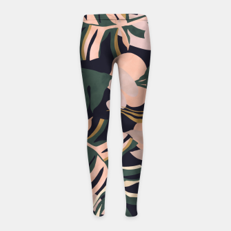 Thumbnail image of Abstract nature tropical 34 Leggings para niña, Live Heroes