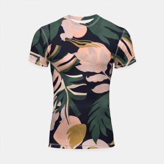 Thumbnail image of Abstract nature tropical 34 Shortsleeve rashguard, Live Heroes