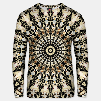 Thumbnail image of Black and Gold Filigree Mandala Unisex Sweater, Live Heroes